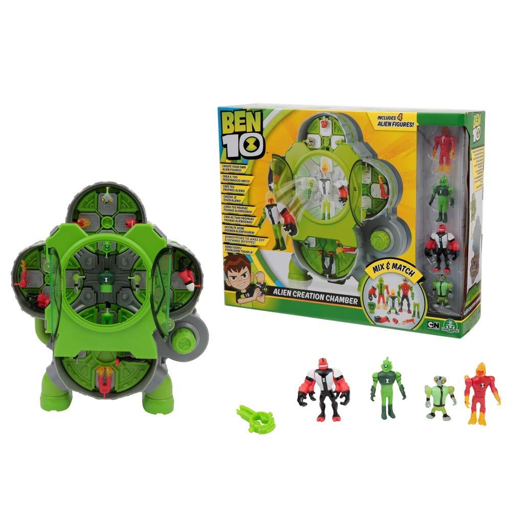 BEN 10 - Alien Creation Chamber Laboratorio Crea Aliens con 4 Figuras (Giochi Preziosi BEN25000)