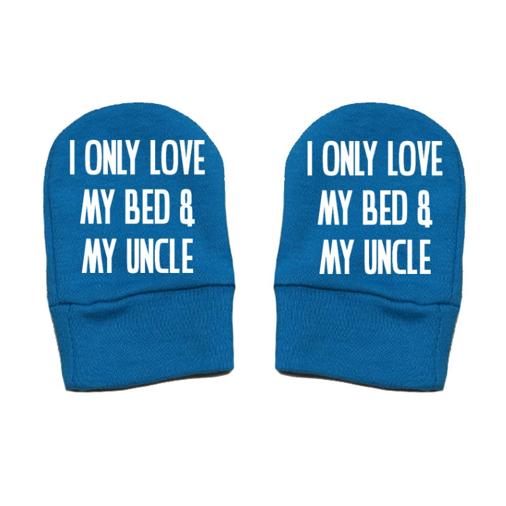 Mashed Clothing Unisex-Baby I Only Love My Bed And My Uncle Thick /& Soft Baby Mittens Thick Premium Fun /& Trendy