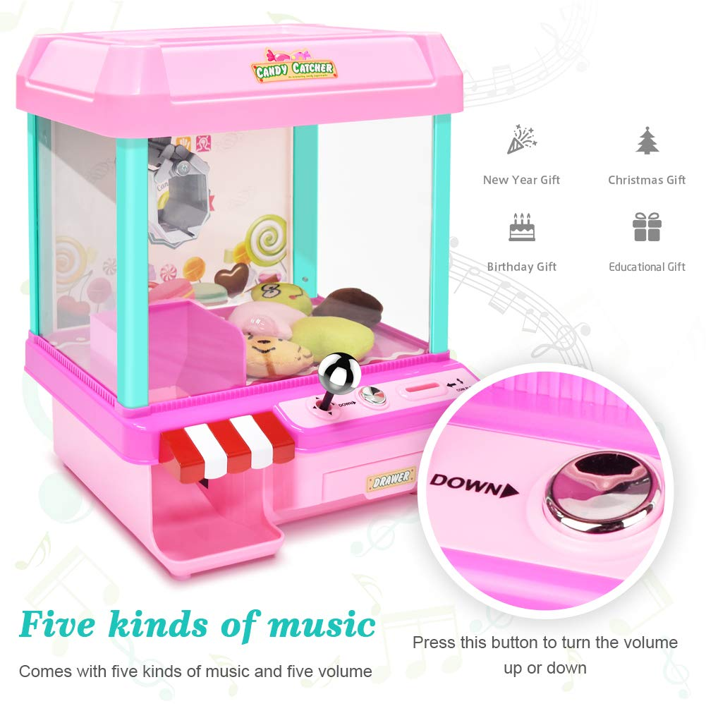 The Toy Grabber Claw Machine for Kids,Indoor Arcade Gams, Ideal for Use with Small Toys / Candy,Features LED Lights and Sound Effects, Mini Candy Claw Toys for 1 2 3 4 5 Year Old Boys Girls Best Gift by Toyk (Image #2)
