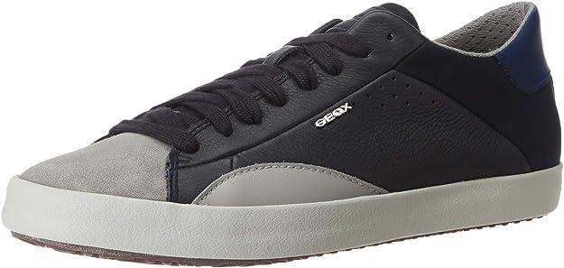 Geox U Warley B Sneakers Herren Schwarz Grau