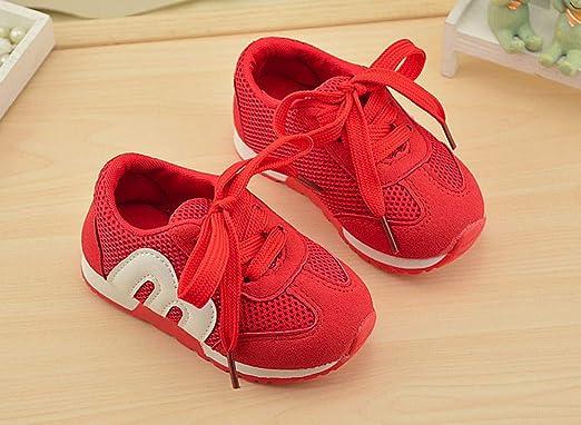 YanHoo Bebé recién Nacido Zapatos Deportivos Carta Malla Zapatos Transpirables niños Zapatos para Correr Zapatos de bebé Zapatos Deportivos Casuales ...