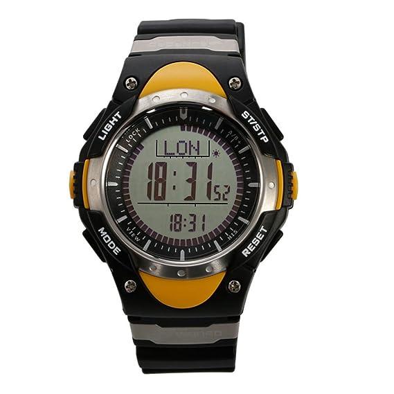 SUNROAD FR828A Hombre Relojes deportivo reloj con brújula digital barometro termometro cronometro alarma pesca prediccion del tiempo del reloj de los ...