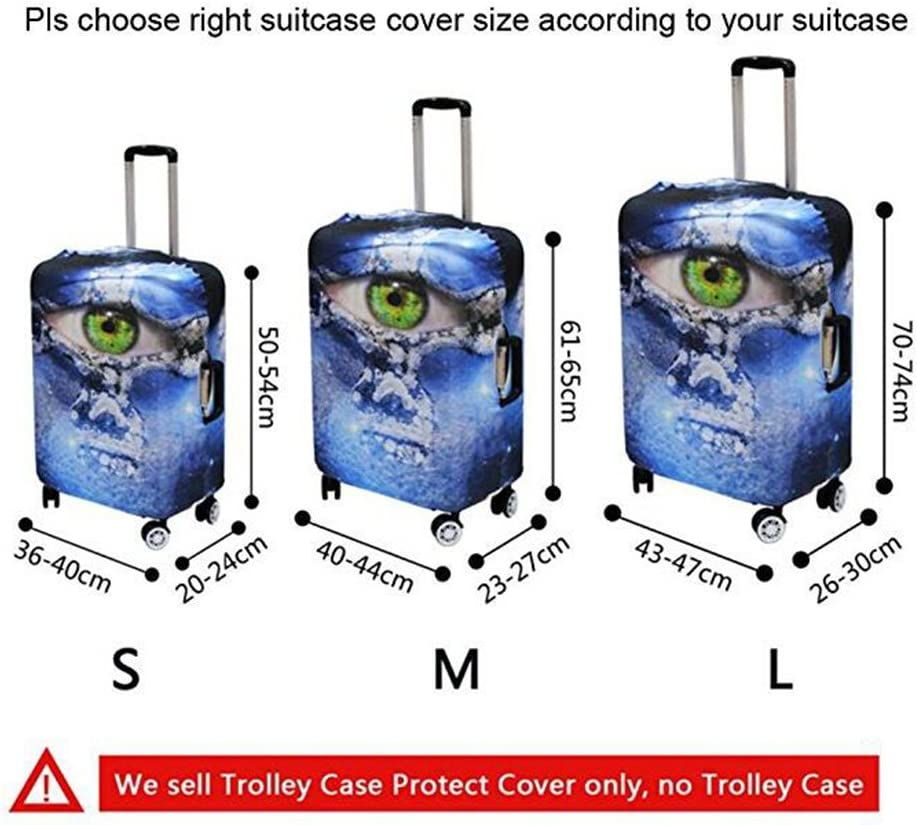 Blue Background Black Penguin Travel Luggage Protector Case Suitcase Protector For Man/&Woman Fits 18-32 Inch Luggage