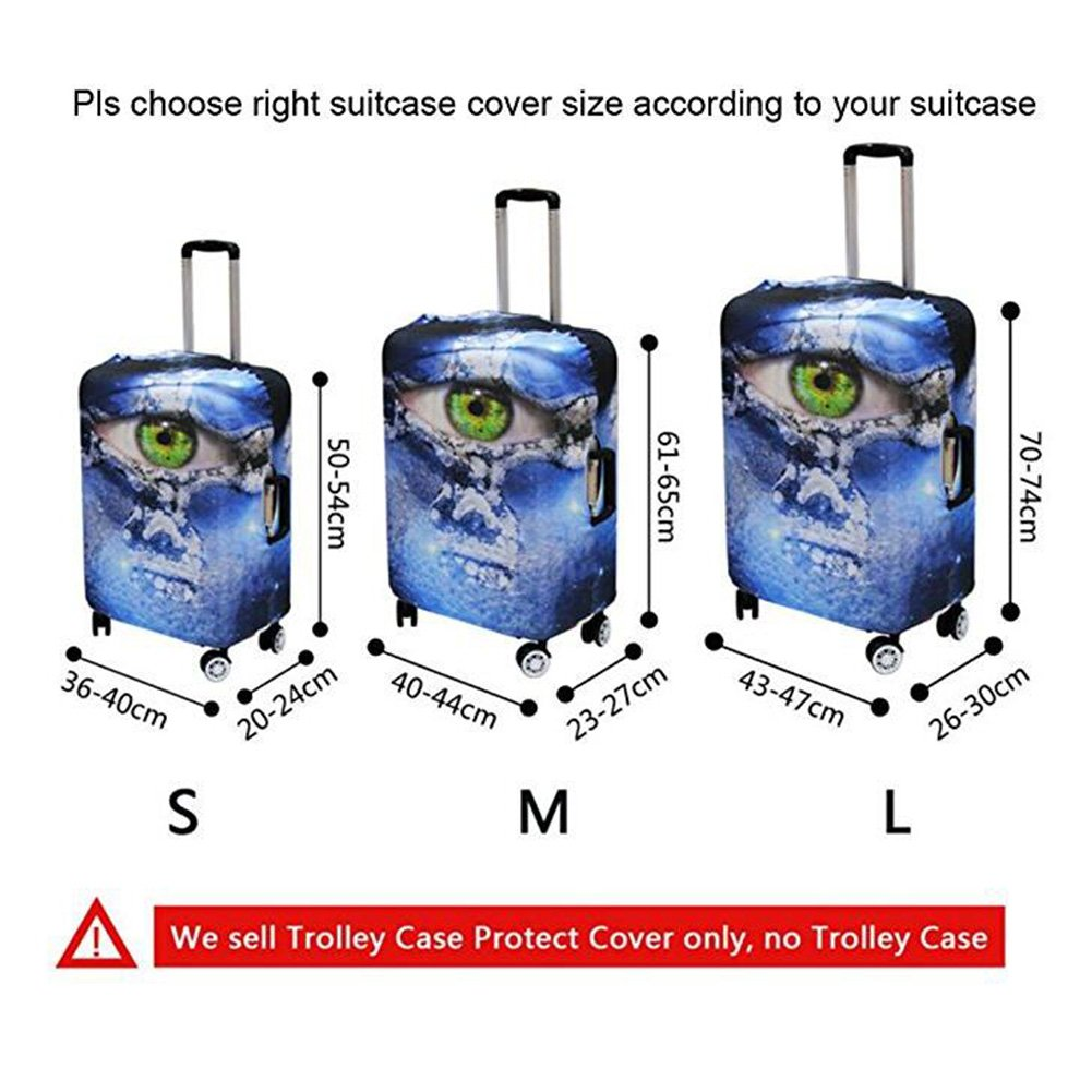 CHAQLIN Travel Rolling Luggage Cover New Design Luggage Sets Suitcase Cover 22-24inch Luggage by CHAQLIN (Image #3)