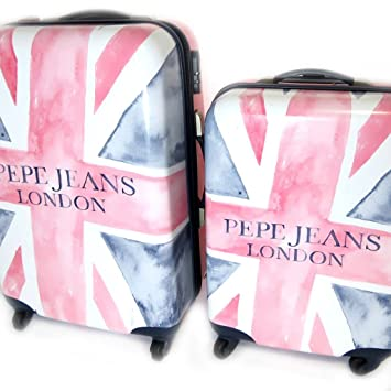 b603d5e5a Set 2 suitcases abs  Pepe Jeans union jack (faded)(55 68 cm (0.00  ) ).   Amazon.co.uk  Luggage