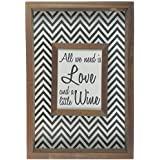 Quadro Porta Rolhas de Vinho Sobreposto Love Wine - ArtFrame