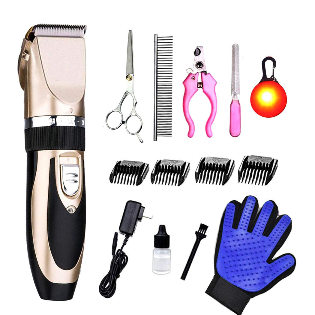 PSALMS Dog Clippers Cordless Professional Heavy Duty Quiet Low Noise for Thick Coats, Dogs Hair Trimmer Cats Shaver,Dog Clippers Grooming Kit for Small Medium Large Dogs, Cats, All Pets