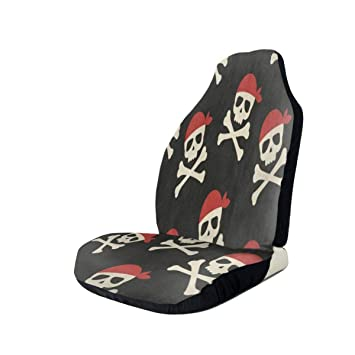 Marvelous Amazon Com Car Seat Covers Day Of The Dead Skull Pirate Dailytribune Chair Design For Home Dailytribuneorg