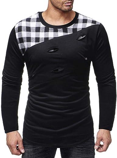 Mens Print Pattern Slim V-Neck Hipster Long Sleeve Letter T-Shirt