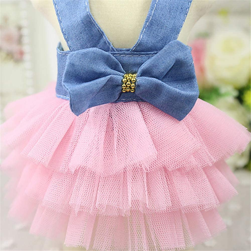 Yagoal Trajes para Perros peque/ños Ropa para Perros Bling Dog Dress Dog Dress For Large Dogs Pet Party Dress Dog Clothes For Small Dogs 1,l