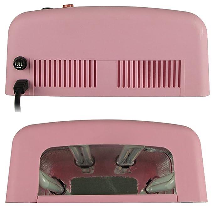 Mercedes - Lámpara UV para uñas postizas (gel, temporizador), color rosa: Amazon.es: Belleza