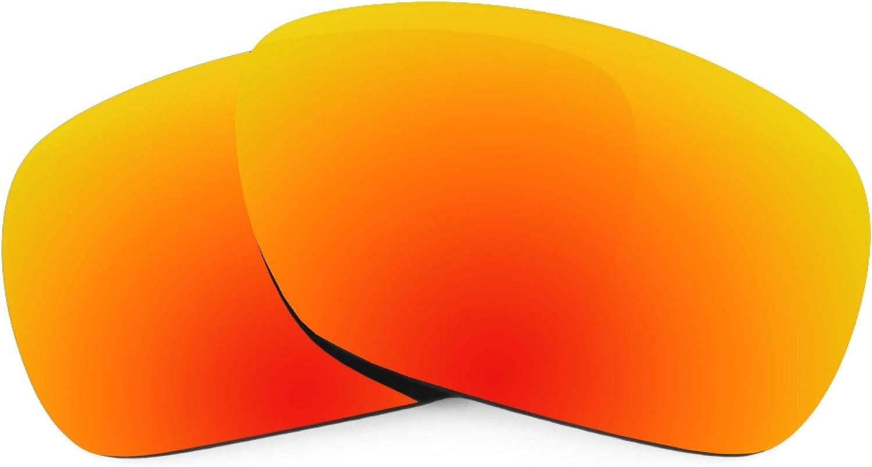 Revant Verres de Rechange pour Oakley Inmate - Compatibles avec les Lunettes de Soleil Oakley Inmate Rouge Feu Mirrorshield - Polarisés Elite