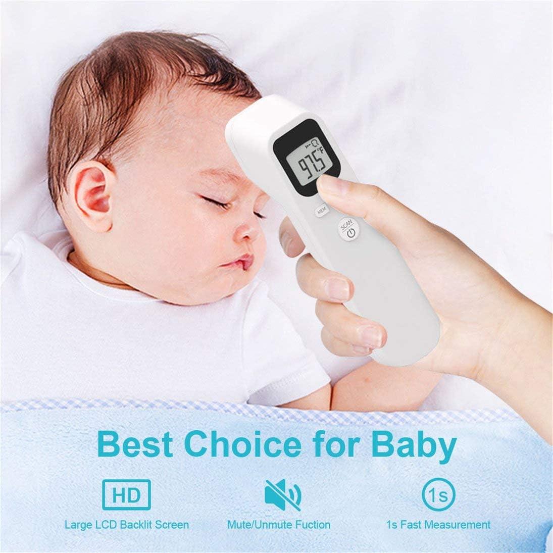 Pistola de temperatura infrarroja sin contacto Term/ómetro de mano Pistola de temperatura de medici/ón precisa electr/ónica Blanco