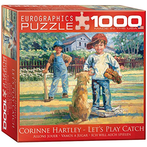 Catch 1000 Piece Puzzle (Let's Play Catch by Corinne Hartley Puzzle, 1000-Piece)