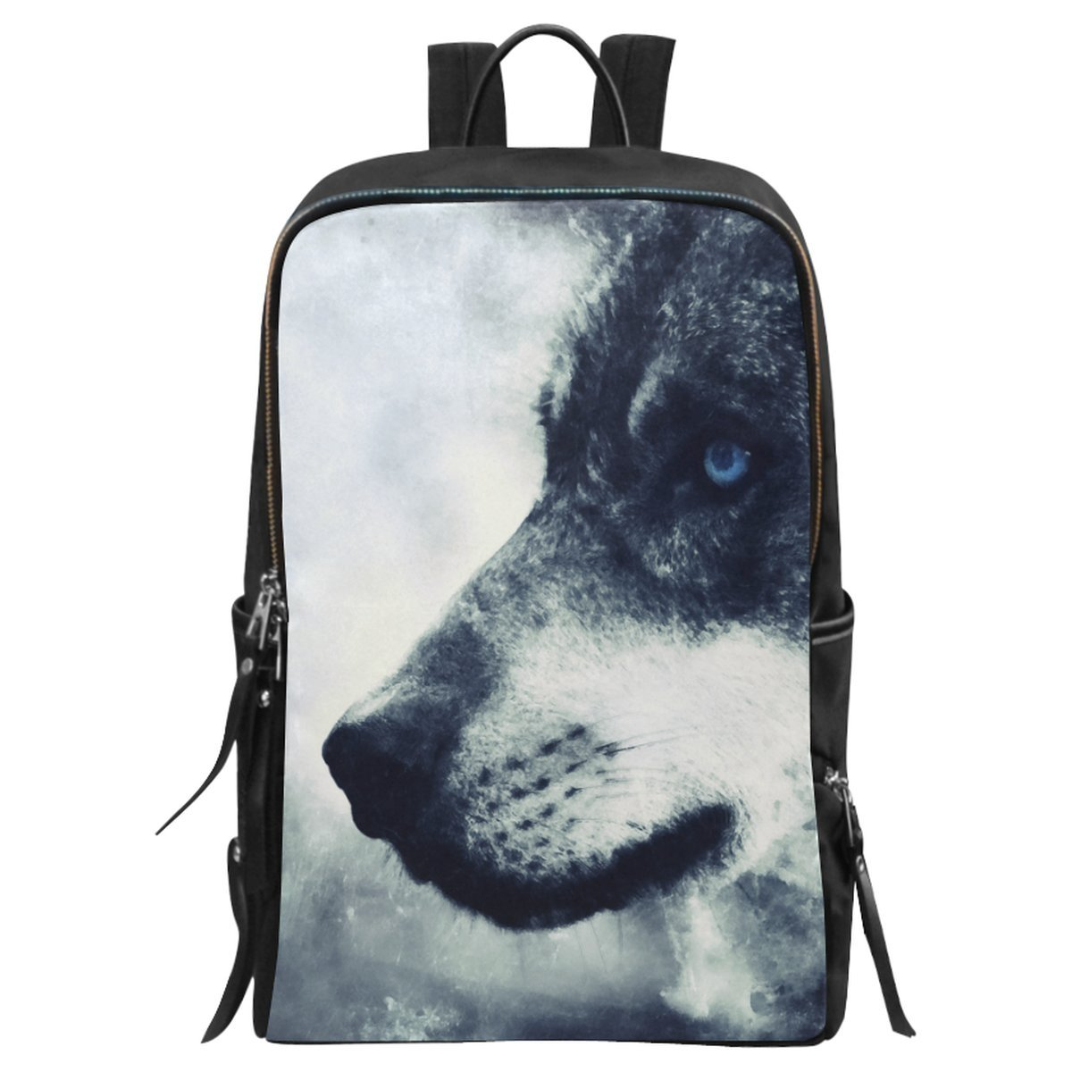 durable modeling InterestPrint Animal Wolf School Casual Travel Backpack  School Bag Travel Daypack 0cb024091a60b