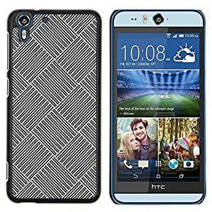 For HTC Desire EYE M910x - Checkered Tiled Pattern Steel Imitation /Modelo de la piel protectora de la cubierta del caso/ - Super Marley Shop -