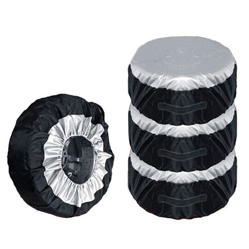 Niome 4Pcs 80cm Car Wheel Bag Tire Tyre Spare Storage Cover Tote For 10-23inch
