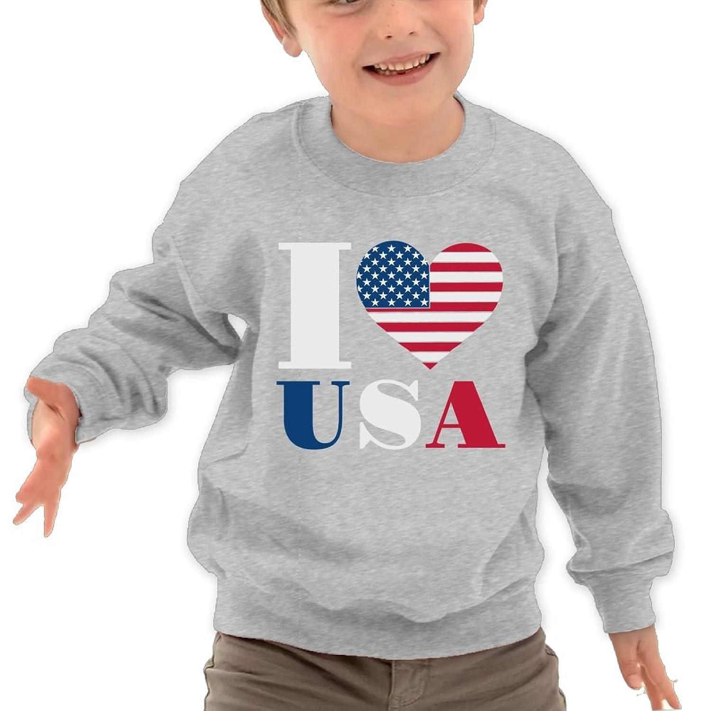 nice TAGSE Love USA Funny Logo DIY Customized Print Cool O-Neck Long Sleeve T-Shirt Kids Sweatshirts