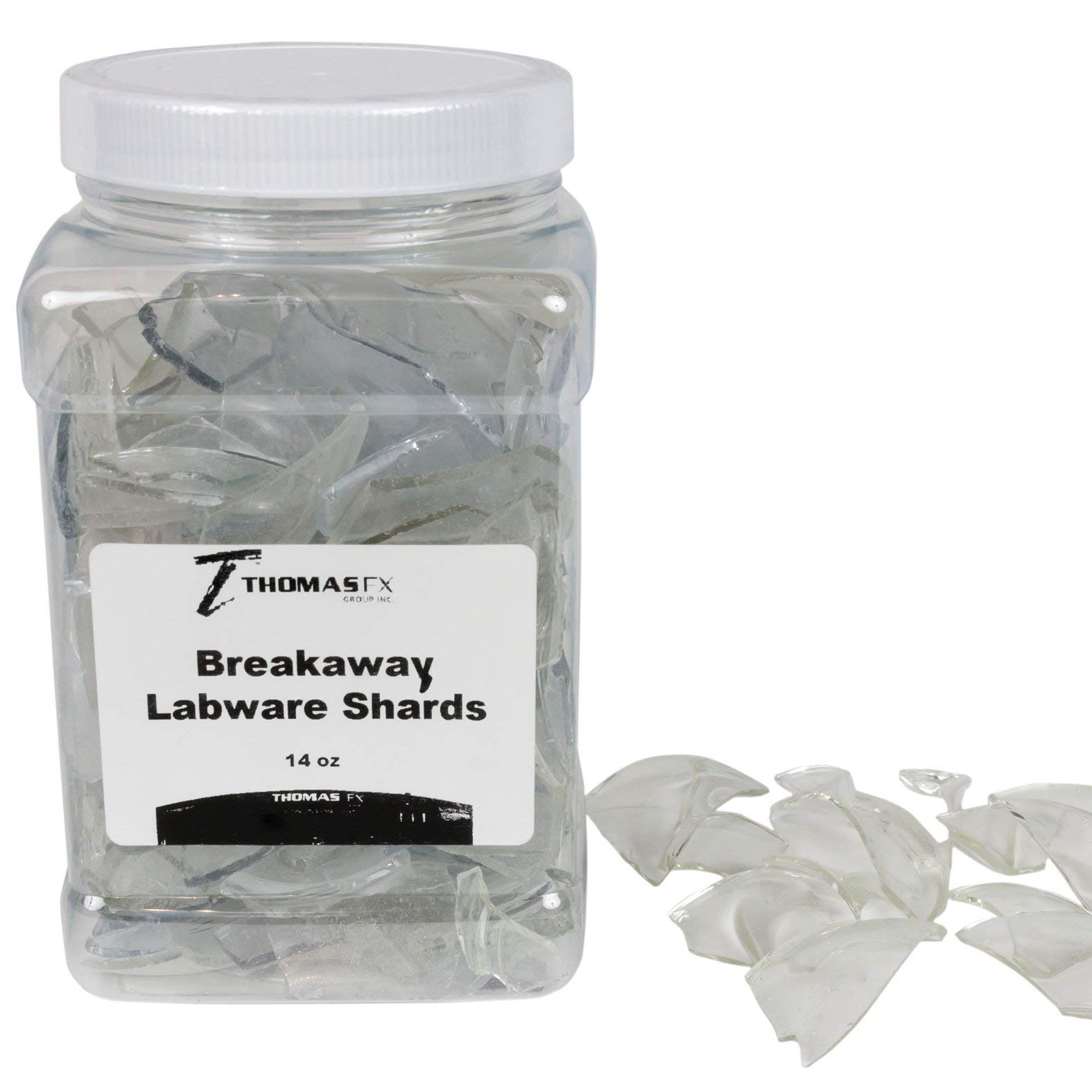 Breakaway Glass Lab-Ware Shards New! Fake Glass Shards