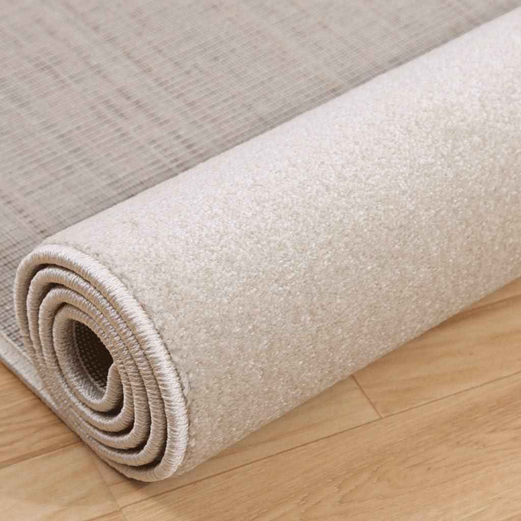 じゅうたん- リビングルームベッドルーム防汚防湿ノンスリップカーペット長方形カーペット (Color : Couleur de peau, Size : 1.6x2.3m)