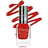 Bonjour Paris Coat Me Satin Matte Finish Long Lasting Nail Polish with Quick Dry Formulation, (Coral - Red) 9 ml