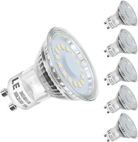 vente en magasin grande vente très loué LE Lighting EVER GU10 Ampoules LED GU10 4W, Equivalent à 50W Ampoules  Halogène, Ampoules Spot LED PAR16 350lm, Blanc Lumière du Jour 5000K, 120  Degrée ...