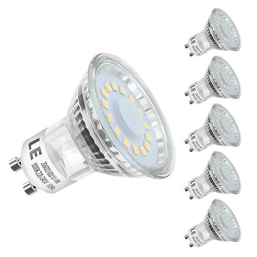 LE Bombillas LED, GU10 4W Equivalente 50W Halógena Blanco frío Luz de Día 5000k,