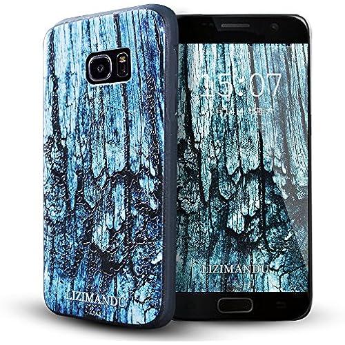 Samsung Galaxy S7 Edge case,Lizimandu TPU Texture Pattern Case for Samsung Galaxy S7 Edge(Rock) Sales