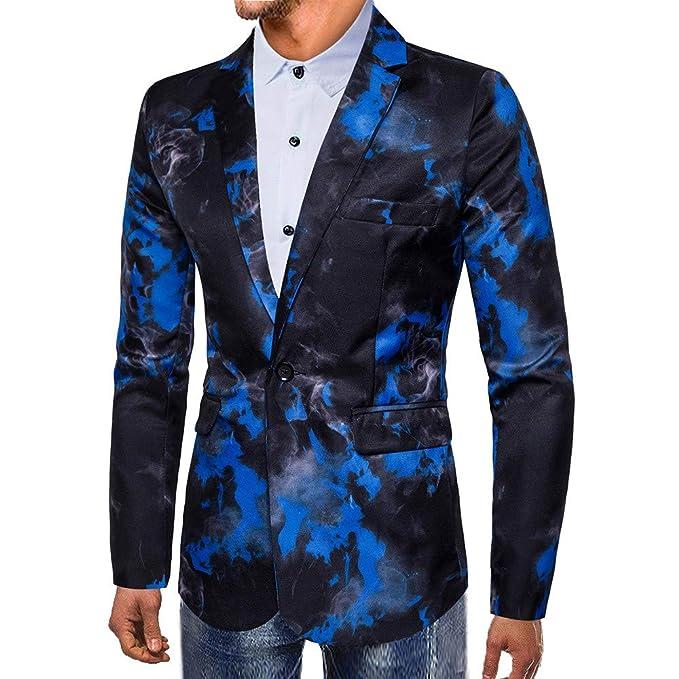 Los Hombres de Moda otoño Invierno Impreso Manga Larga Escudo Outwear Blusa Superior de Internet.: Amazon.es: Ropa y accesorios
