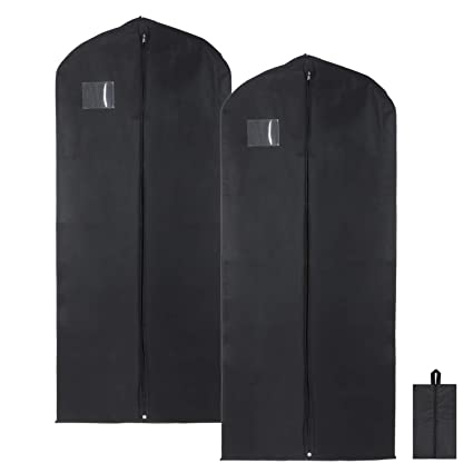 63b7b3e7f649 Magicfly Garment Bags with Shoe Bag, Premium Quality 54 Inch Breathable  Dress/Suit Covers with Clear Window, Full Zipper Suit Bag for Suit  Carriers, ...