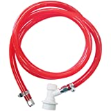 "PERA 5/16"" ball lock line assembly, MFL liquid disconnect with 5ft gas line for home brewing"