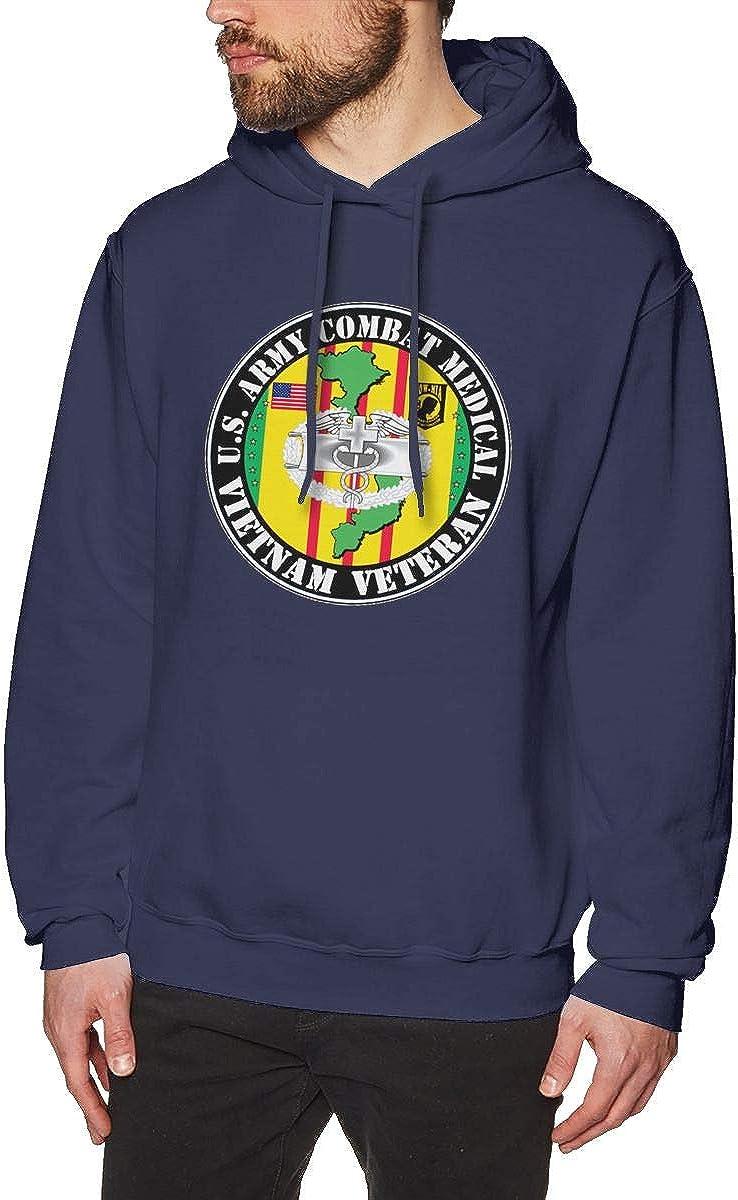 US Army Combat Medic Veteran Mens Hooded Sweatshirt Theme Printed Fashion Hoodie