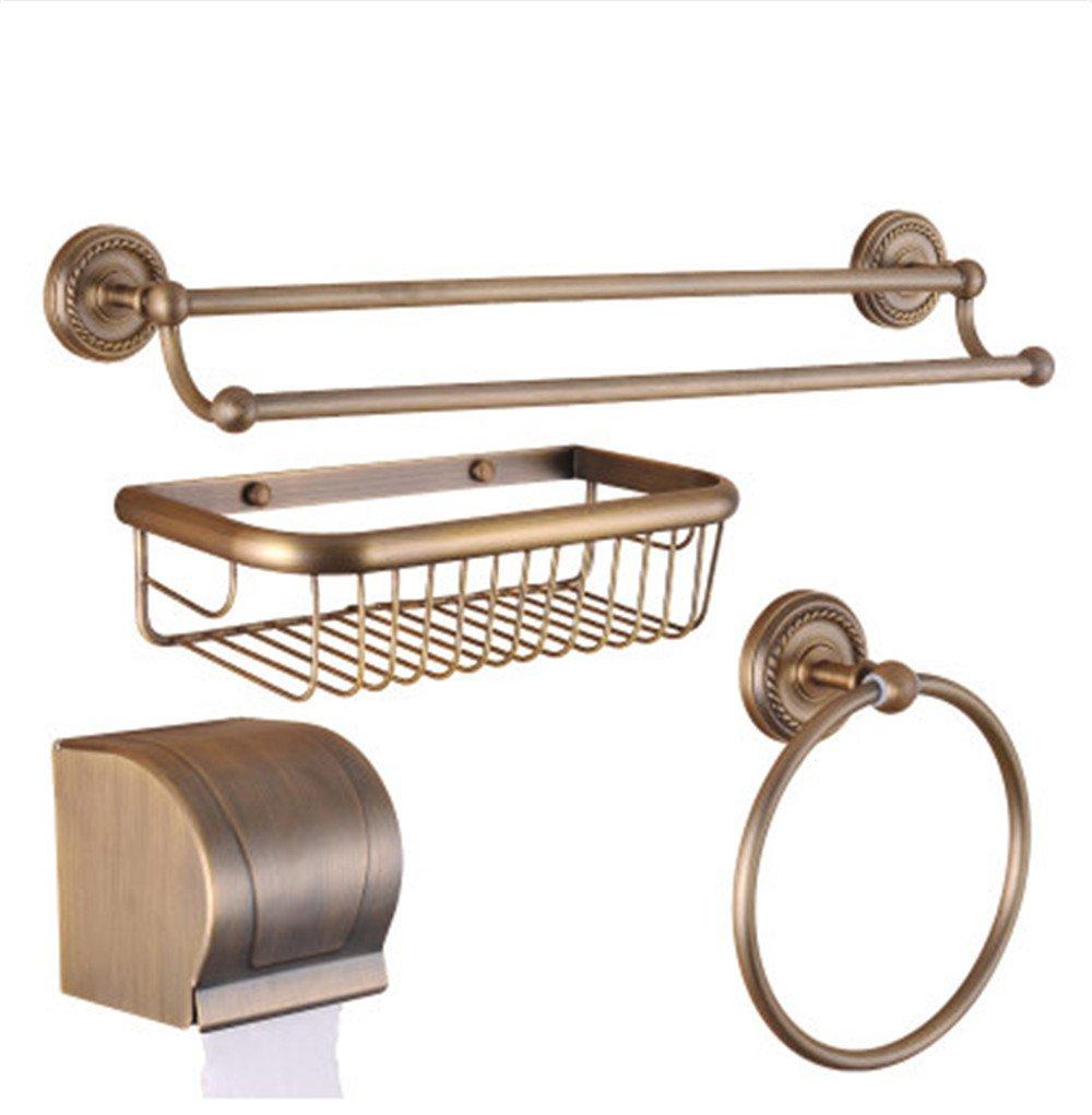 Lx.AZ.Kx WC-Bürste und Halter Toilettenbürste Modernes Design Längere Bürste Toilettenbürstenhalter Continental Antik Kupfer integrierte Regal montieren Sie das Badezimmer Handtuchhalter Handtuchhalter Seifenschale Metall Wal WC Zubehör