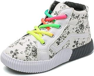 Scarpe di Tela per Bambini Scarpe comode, Scarpe Stringate Alte, Scarpe Antiscivolo Impermeabili per Ragazzi e Ragazze