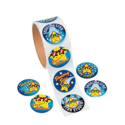Fun Express Star Student Stickers (100) - 1 Piece - Educational and Learning Activities for Kids: Toys & Games