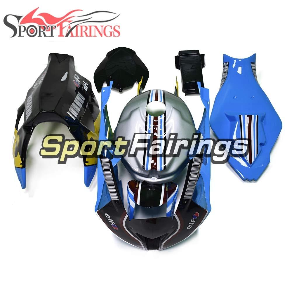 Sportfairings グラスファイバートラック外装部品セット適応フィックBMW S1000RR 2011 2012 2013 2014 カバーフェアリングキットグレー黒青   B07MX6F5KT