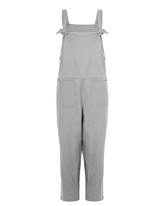 47bc0a2ed7 LVCBL Women Loose Bib Baggy Overall Long Suspender Romper Pants 8 Color S- 5XL  Amazon.ca  Clothing   Accessories