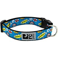 "RC Pet Products 1/2"" Adjustable Dog Clip Collar, Comic Sounds, XX-Small"
