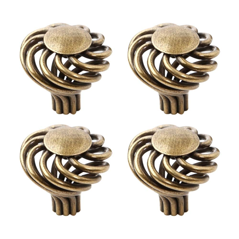 10 Pcs Bronze Round Ball Furniture Birdcage Pulls Knobs Children Bedroom Cabinet Drawer Handles weidu