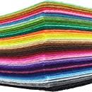 flic-flac 42pcs 8 x 12 inches (20cm30cm) 42 Colors for Choice A4 Felt Fabric Sheet Assorted Color Felt Pack DIY Craft Patchwork