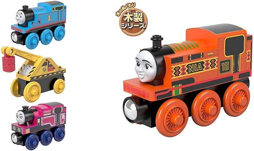 Fisher-Price Thomas & Friends Small Engine, 3 Pack, These Thomas & Friends Wood Toy Trains Help Kids Experience a World of Imaginative Play They Craft Stories & Thomas & Friends Wood, Nia