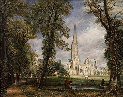 Oil Painting 'John Constable - Salisbury Cathedral From The Bishop's Garden, 1826' 8 x 10 inch / 20 x 26 cm , on High Definition HD canvas prints, gifts for Bed Room, Hallway And Powder Room decor ()