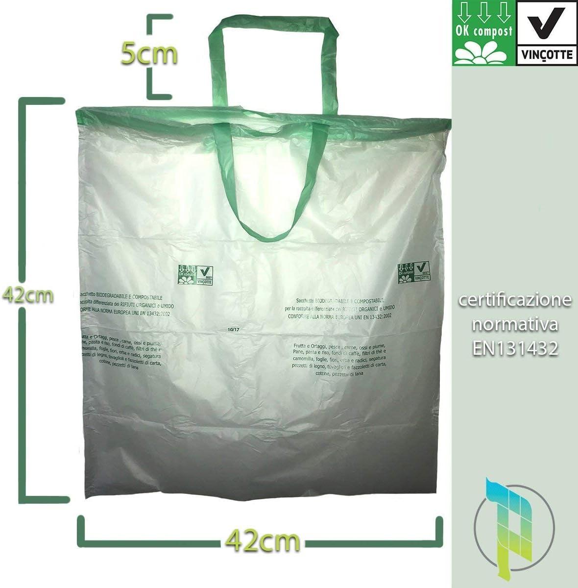 Palucart® 10 Rollos de 15 Bolsas biodegradables 10 litros para ...