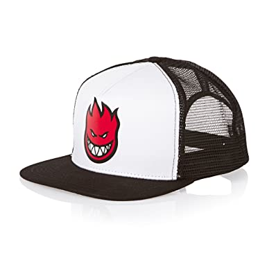 c9118be052b49 Spitfire Big Head Fill Logo Trucker Hat Black White Red Snapback at ...