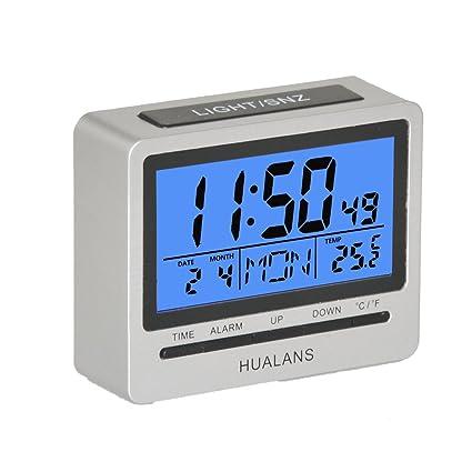 Reloj despertador digital para mesilla con la modos 12/24 Horas función de repetición,