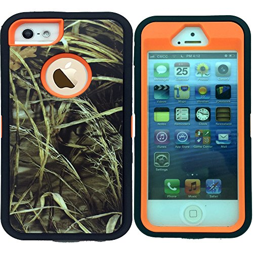 Kecko®iphone SE/5S Case,Defender Military Tough Rubber Shockproof High Impact Hybrid Comouflage Hunting Camo Tree Case Covers For iphone 5s/5 With Built-in Screen Protector