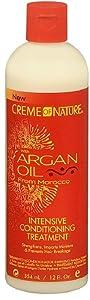 U/S/H/ Crm/Nat Argan Oil Size 12z U/S/H/ Creme Of Nature Argan Oil Intense Treatment 12z