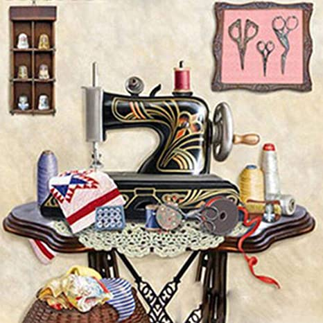 30 x 30 cm) máquina de coser de punto de cruz con diamantes de ...
