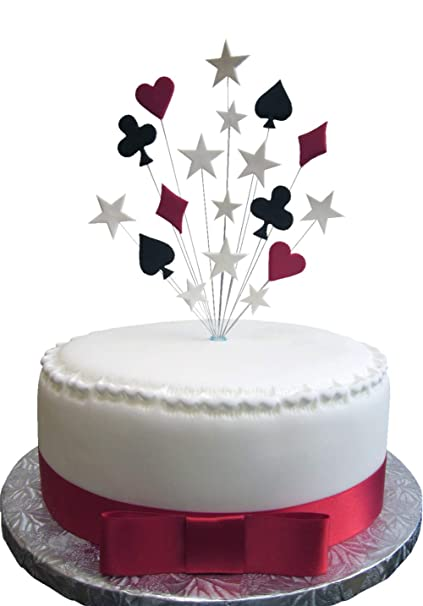 Tremendous Poker Casino Crib Playing Card Birthday Cake Topper With White Funny Birthday Cards Online Unhofree Goldxyz