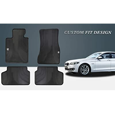 HD-Mart Car Floor Mat for BMW New 5 Series 2020 2020 2020 528i 525i 530i 540i G30 G31 Custom Fit Rubber Black Auto Floor Liners Set All Weather Protection Heavy Duty Odorless: Automotive